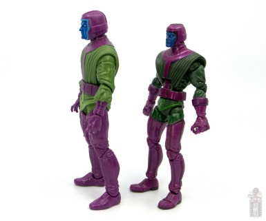 marvel legends kang figure review -side shot with first kang