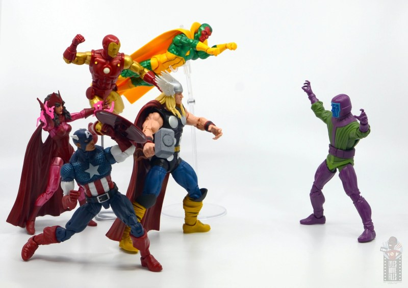 marvel legends kang figure review - vs the avengers