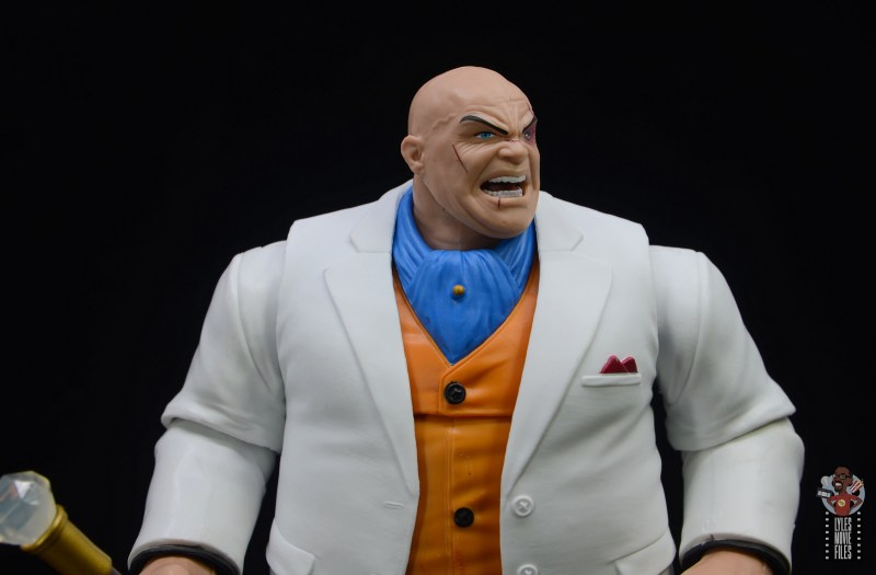 marvel legends retro kingpin figure review -close up outfit shot