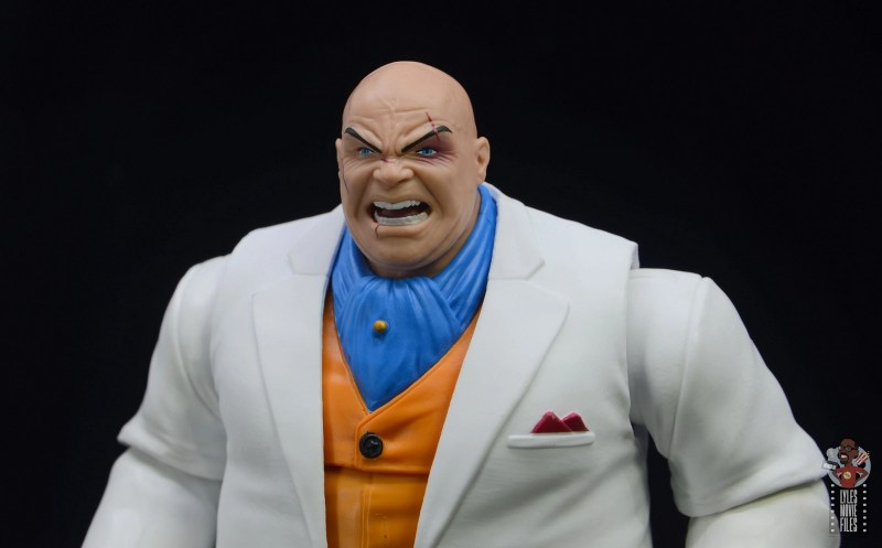 marvel legends retro kingpin figure review - detailed angry head