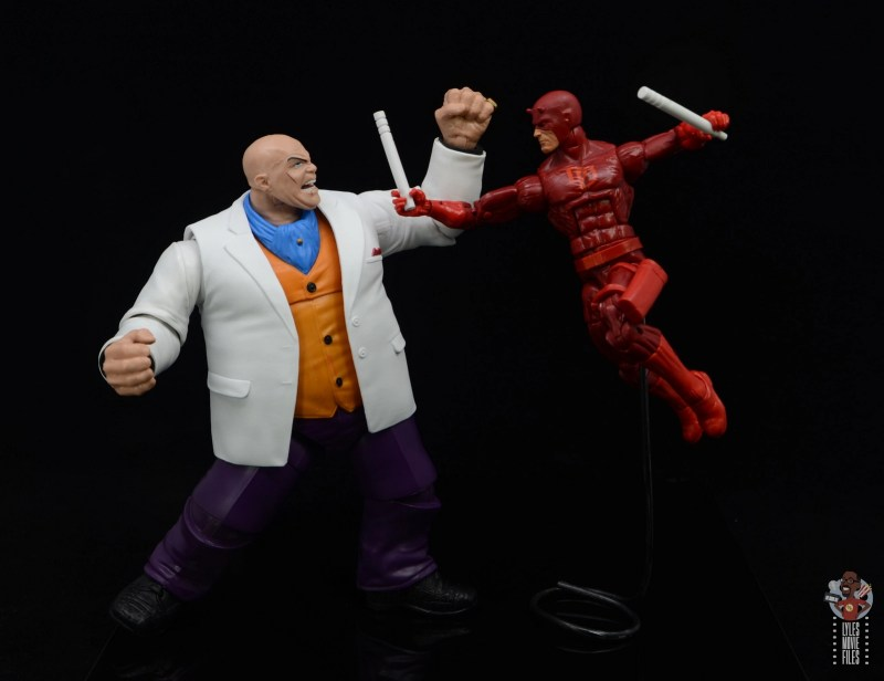 marvel legends retro kingpin figure review - face off with daredevil