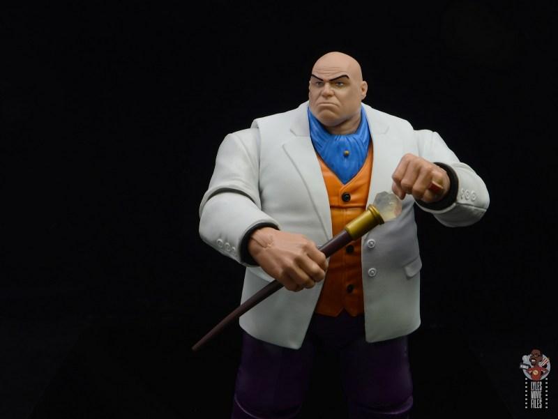 marvel legends retro kingpin figure review - holding cane