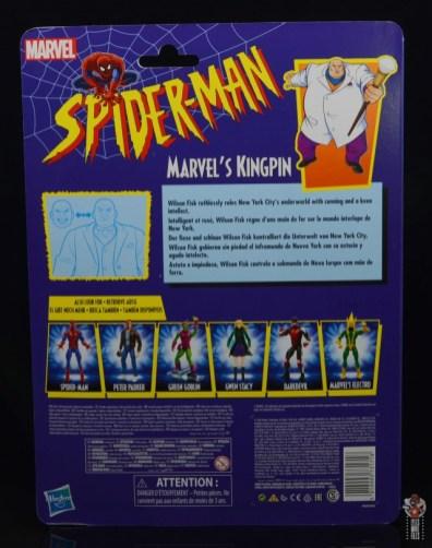 marvel legends retro kingpin figure review - package rear