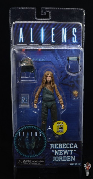 neca aliens newt figure review - package front