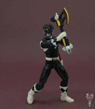 power rangers lightning collection black ranger figure review - axe up