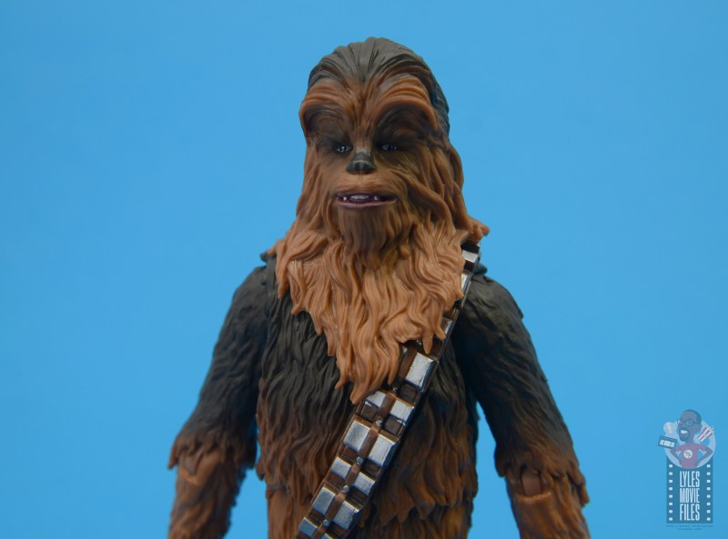 star wars the black series chewbacca and c-3p0 figure set review - chewbacca close up