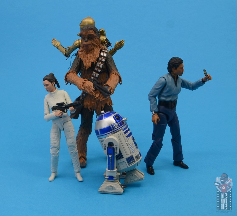 star wars the black series chewbacca and c-3p0 figure set review - evacuating cloud city