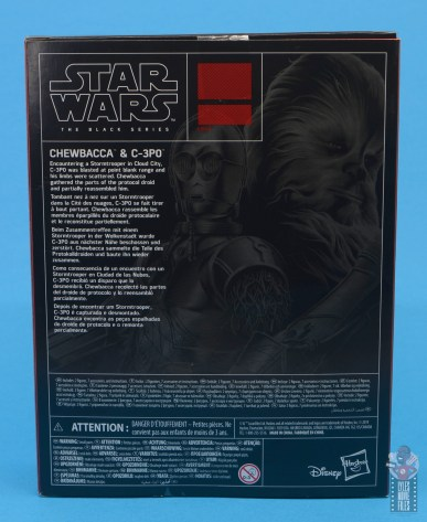 star wars the black series chewbacca and c-3p0 figure set review - package rear