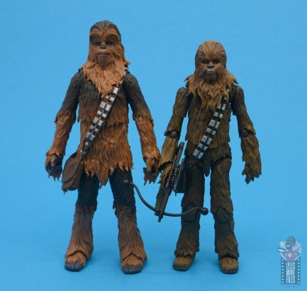 star wars the black series chewbacca and c-3p0 figure set review - scale with sh figuarts chewbacca