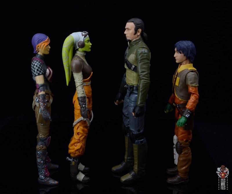 star wars the black series kanan jarrus figure review - facing sabine, hera and ezra