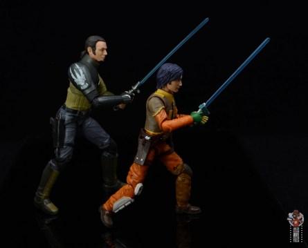star wars the black series kanan jarrus figure review - lightsaber practice with ezra