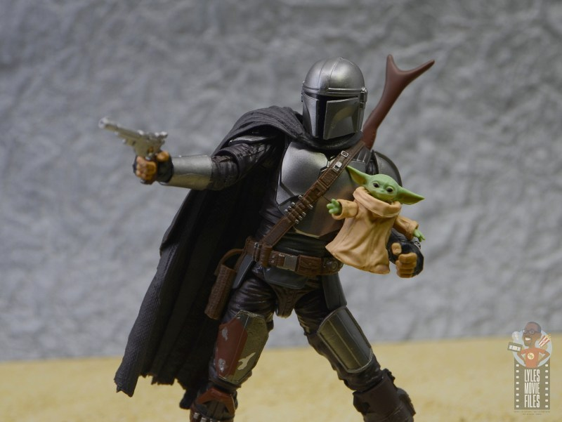 star wars the black series the child figure review -heading out with mando