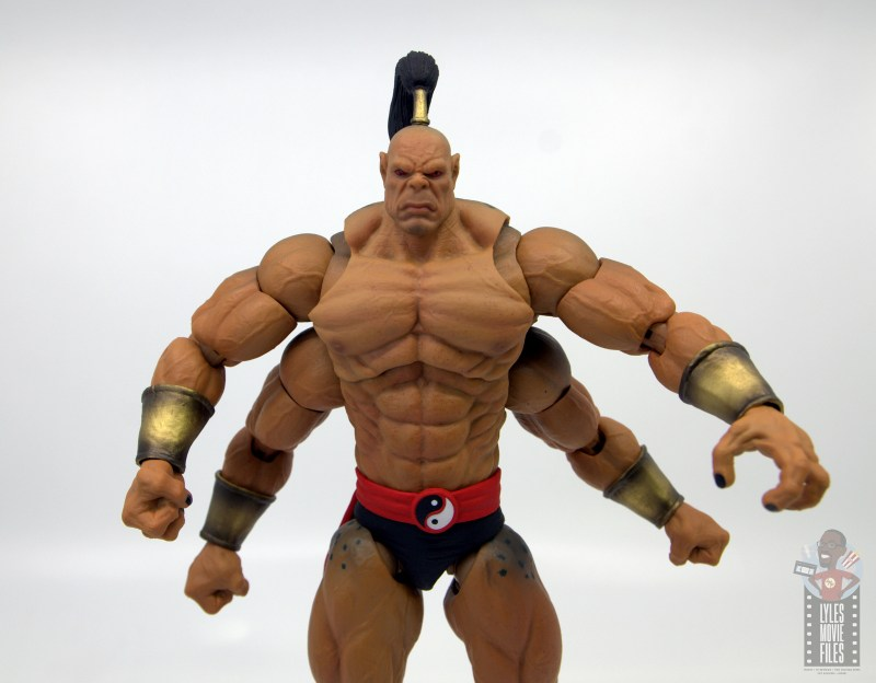 storm collectibles mortal kombat goro figure review - arms out