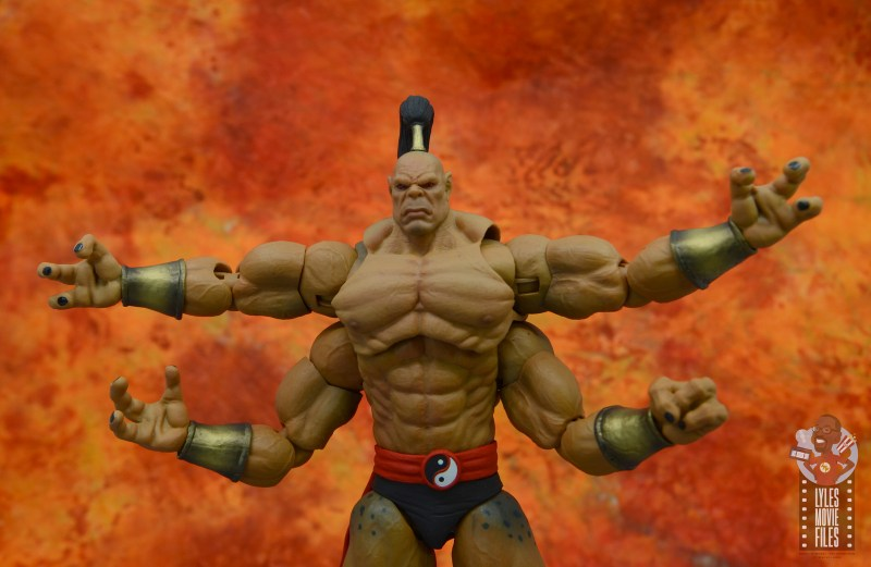 storm collectibles mortal kombat goro figure review - arms spread