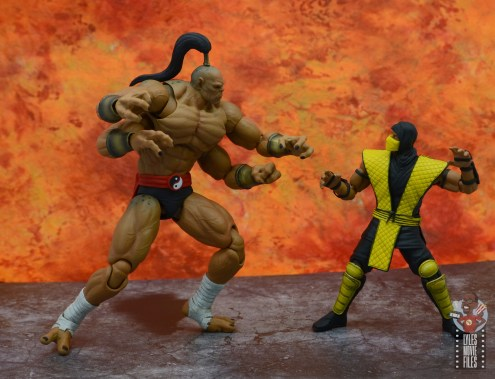 storm collectibles mortal kombat goro figure review - face off with scorpion
