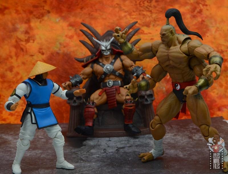 storm collectibles mortal kombat goro figure review - showdown with raiden