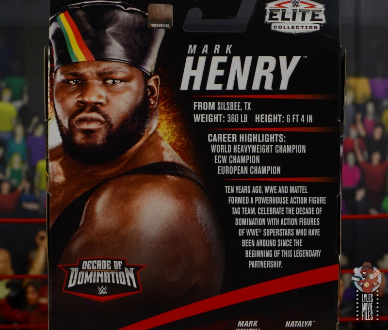 wwe decade of destruction mark henry figure review - package bio
