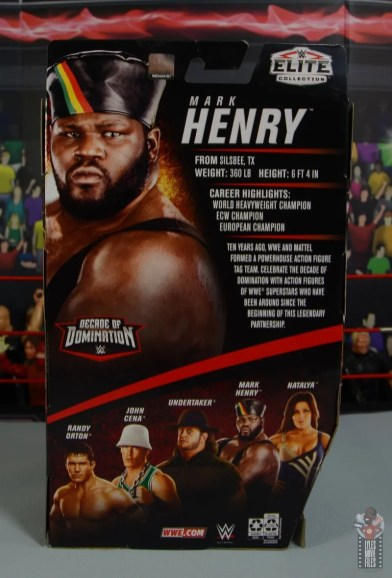 wwe decade of destruction mark henry figure review -package rear