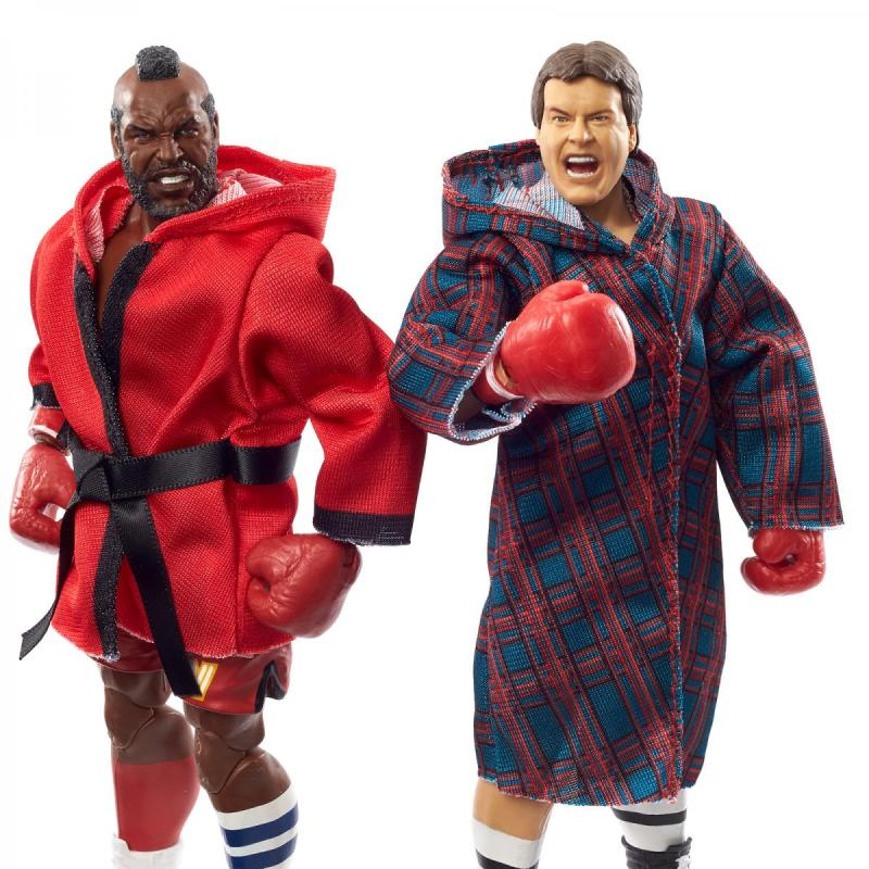 wwe elite collection two packs - roddy piper vs mr t - close up