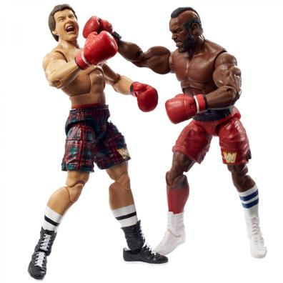 wwe elite collection two packs - roddy piper vs mr t punching