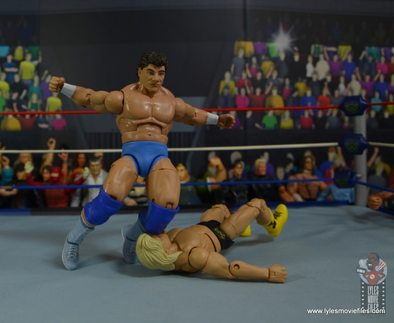 wwe elite don muraco figure review - knee smash to greg valentine