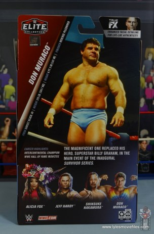 wwe elite don muraco figure review - package rear