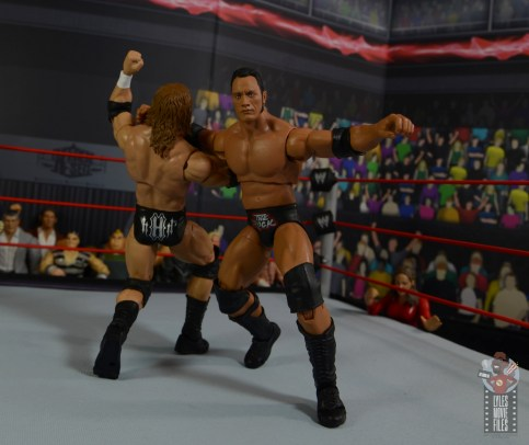 wwe ultimate edition the rock figure review - clothesline to triple h