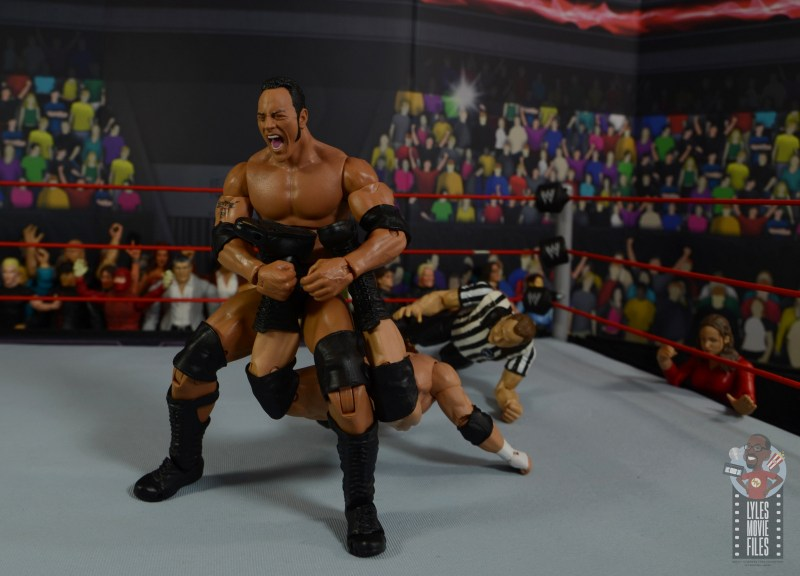 wwe ultimate edition the rock figure review - sharpshooter to triple h
