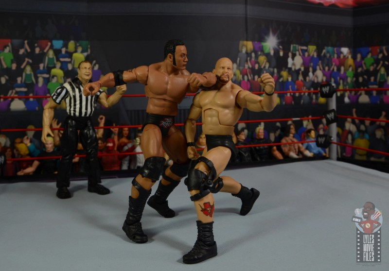 wwe ultimate edition the rock figure review - slugfest with stone cold