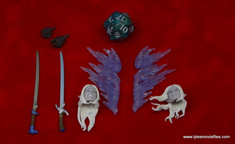 dungeons and dragons drizzt and guenhwyvar figure review - accessories