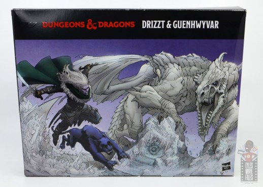 dungeons and dragons drizzt and guenhwyvar figure review - inner package rear