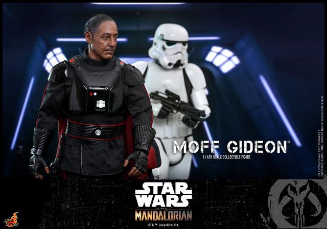 hot toys the mandalorian moff gideon - walking with stormtrooper