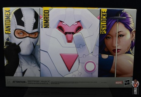 marvel legends nimrod, fantomex and psylocke figure review - package rear