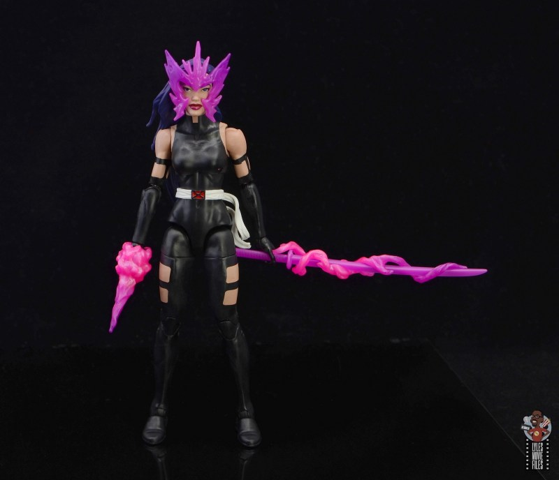 marvel legends nimrod, fantomex and psylocke figure review - psylocke with accessories