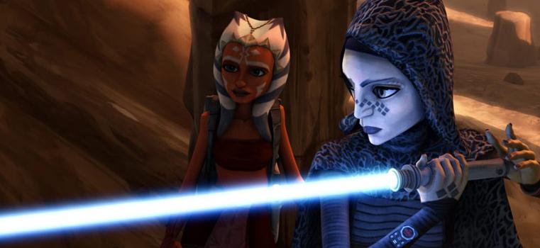 star wars clone wars season 2 - ahsoka and barris