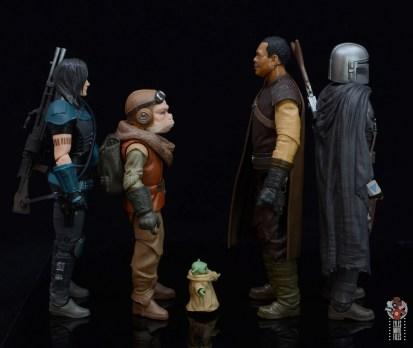 star wars the black series greef karga figure review -facing cara dune, kuiil, grogu and mando