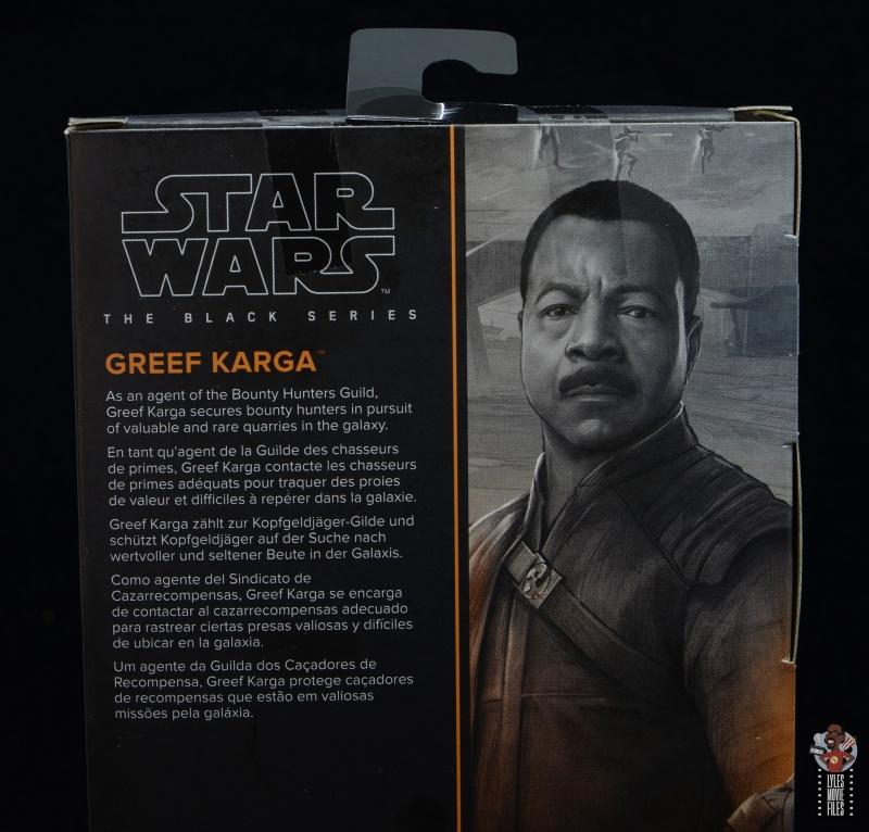 star wars the black series greef karga figure review - package bio