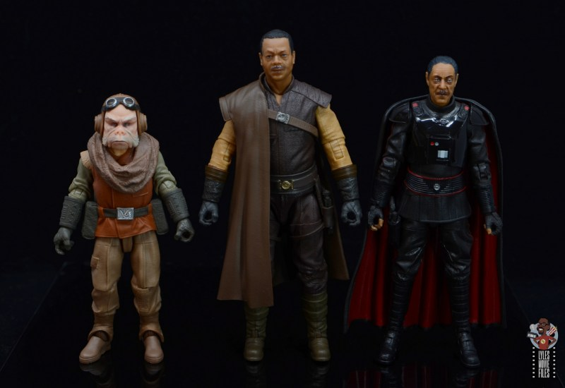 star wars the black series greef karga figure review -scale with kuiil and moff gideon