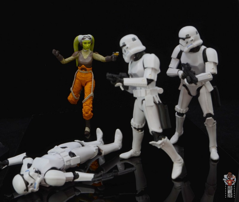 star wars the black series hera syndulla figure review - taking aim at stormtroopers