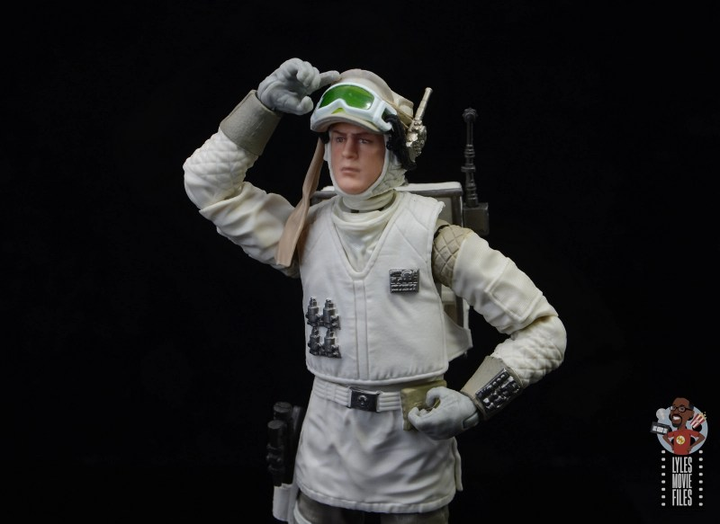 star wars the black series hoth trooper figure review - about to lower the goggles