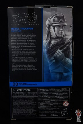 star wars the black series hoth trooper figure review - package rear