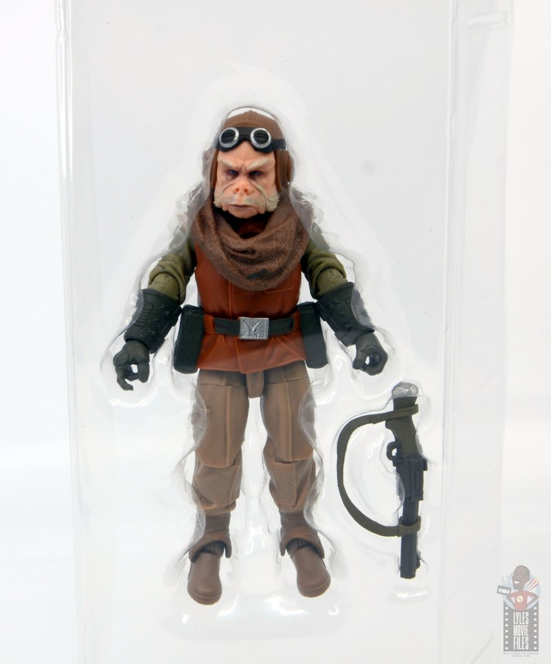 star wars the black series kuill figure review - accessories in tray