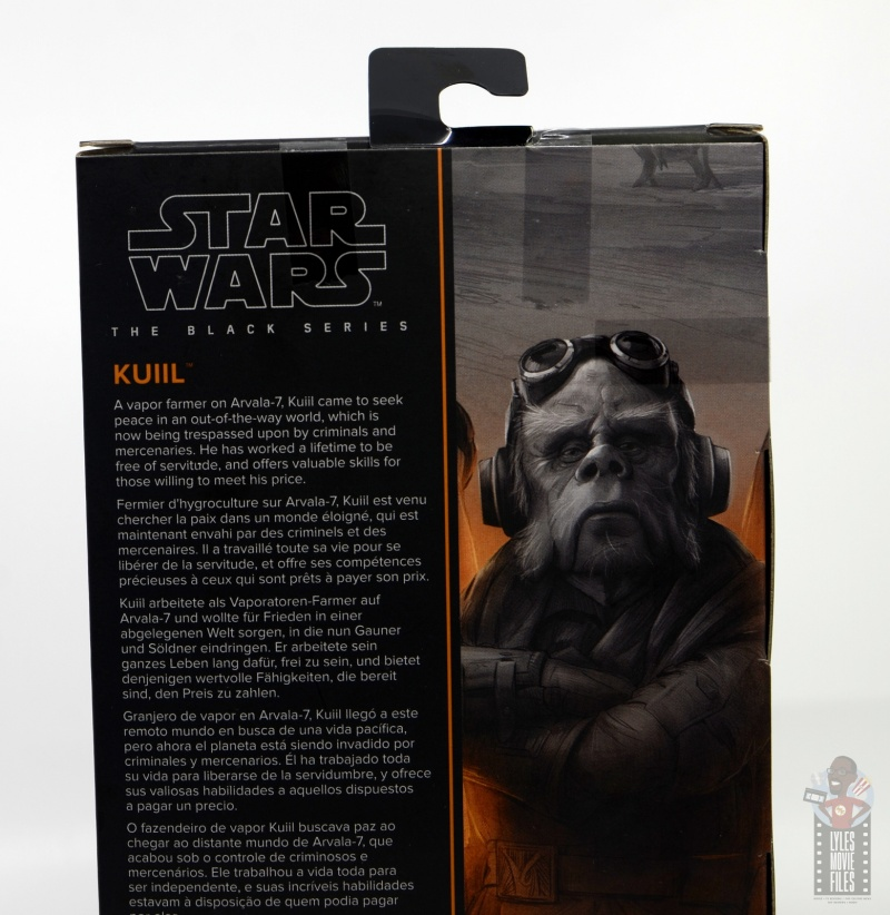 star wars the black series kuill figure review - package bio