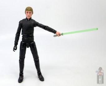 star wars the black series luke skywalker endor figure review - about to throw lightsaber down