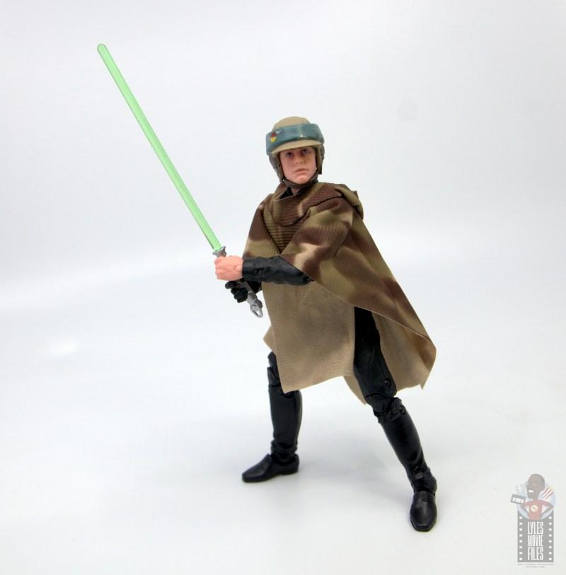 star wars the black series luke skywalker endor figure review - battle stance