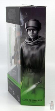 star wars the black series luke skywalker endor figure review - package side