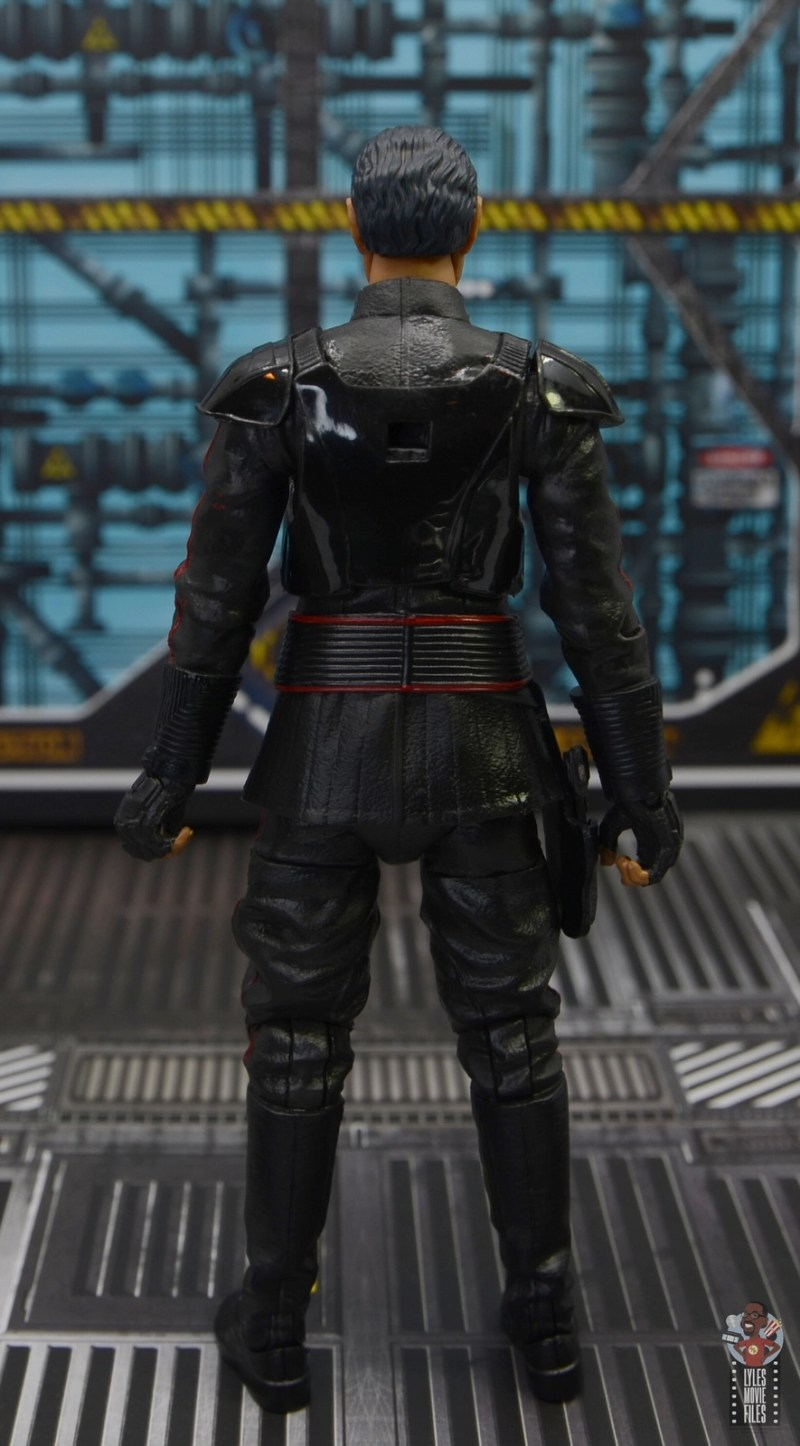 star wars the black series moff gideon figure review - rear