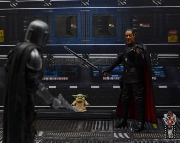 star wars the black series moff gideon figure review - threatning grogu