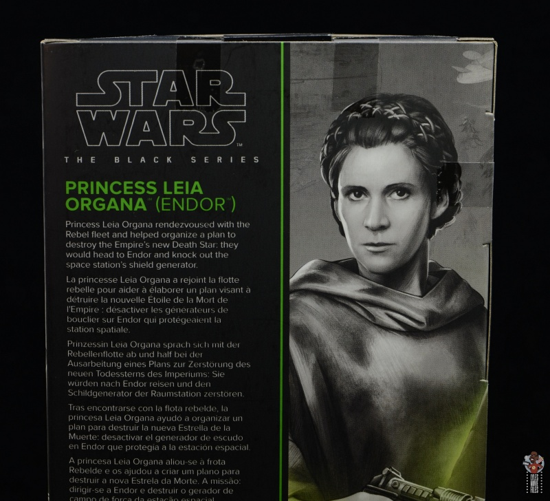 star wars the black series princess leia endor figure review - package bio