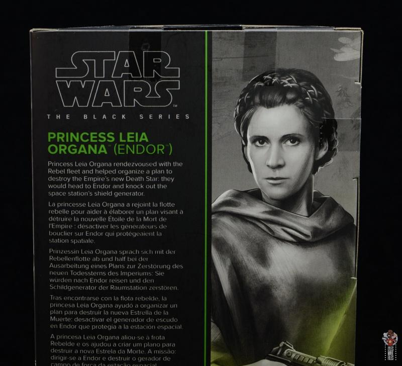 star wars the black series princess leia endor figure review - package bio